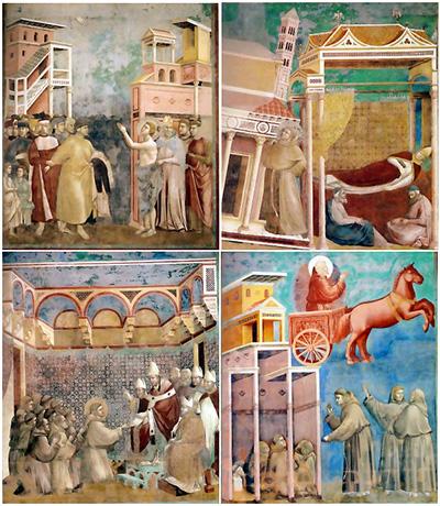 Giotto, esempio di striscia illustrata ante-litteram