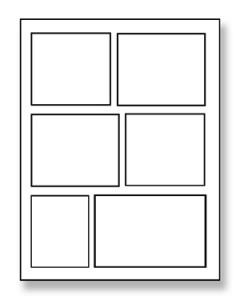 Struttura del fumetto: la tavola classica a 6 vignette