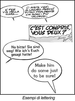 Esempi di lettering nei fumetti