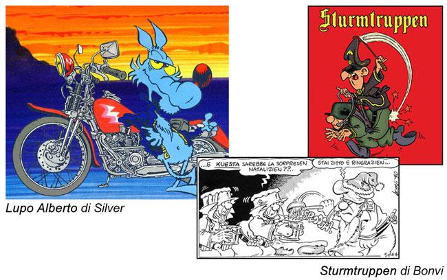 Lupo Alberto di Silver e Sturmtruppen di Bonvi