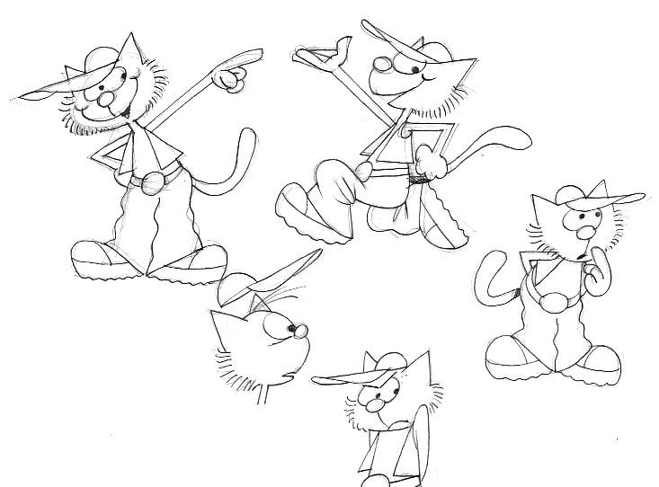 Gli schizzi preliminari per disegnare Gattoblog