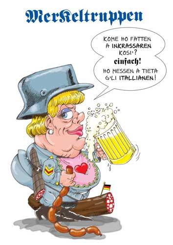 Caricatura di Angela Merkel