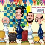 cartolina 2013 per La Mongolfiera di Vimercate: gli istruttori della Scuola Scacchi F.S.I.
