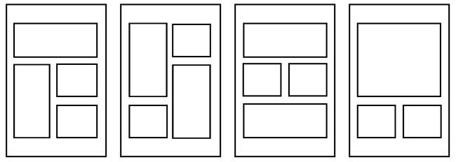 esempi di frame e di pagine di fumetto