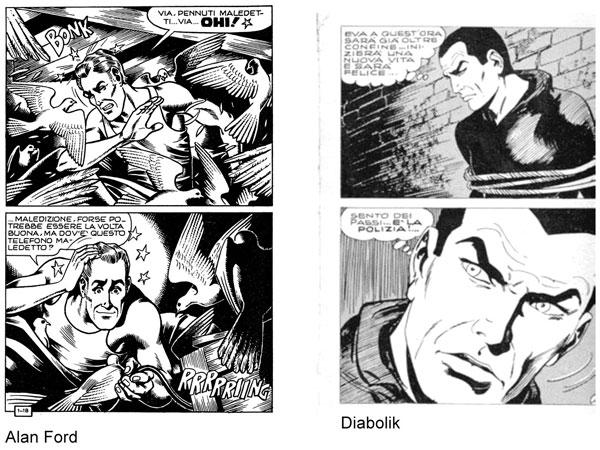 Esempi di frame: Alan Ford e Diabolik