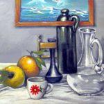 pastelli + olio su tavola cm 40x30
